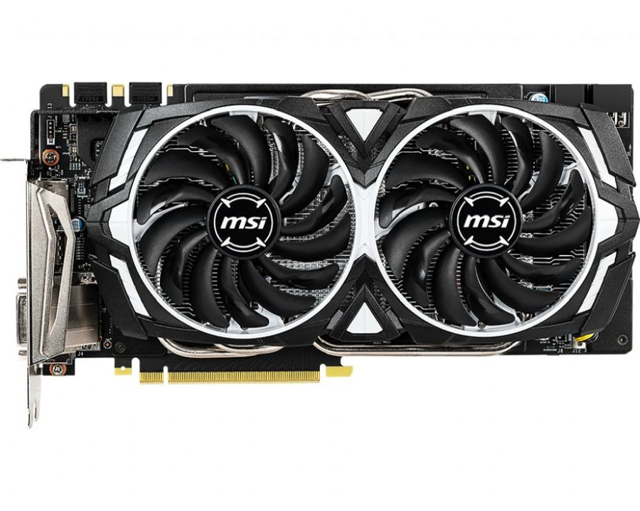Видеокарта MSI nVidia  GeForce GTX 1060 ,  GeForce GTX 1060 ARMOR 6GD5X OC,  6Гб, GDDR5X, OC,  Ret