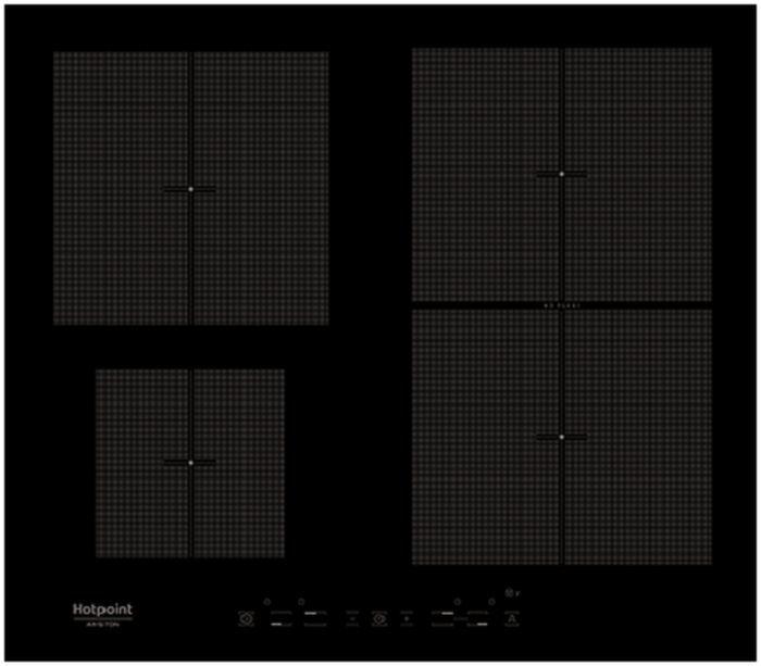 Индукционная варочная панель HOTPOINT-ARISTON KIT 641 F B,  индукционная,  независимая,  черный