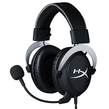 Гарнитура игровая HYPERX Cloud Silver,  для компьютера и игровых консолей, мониторы,  черный  / серебристый [hx-hscl-sr/na]