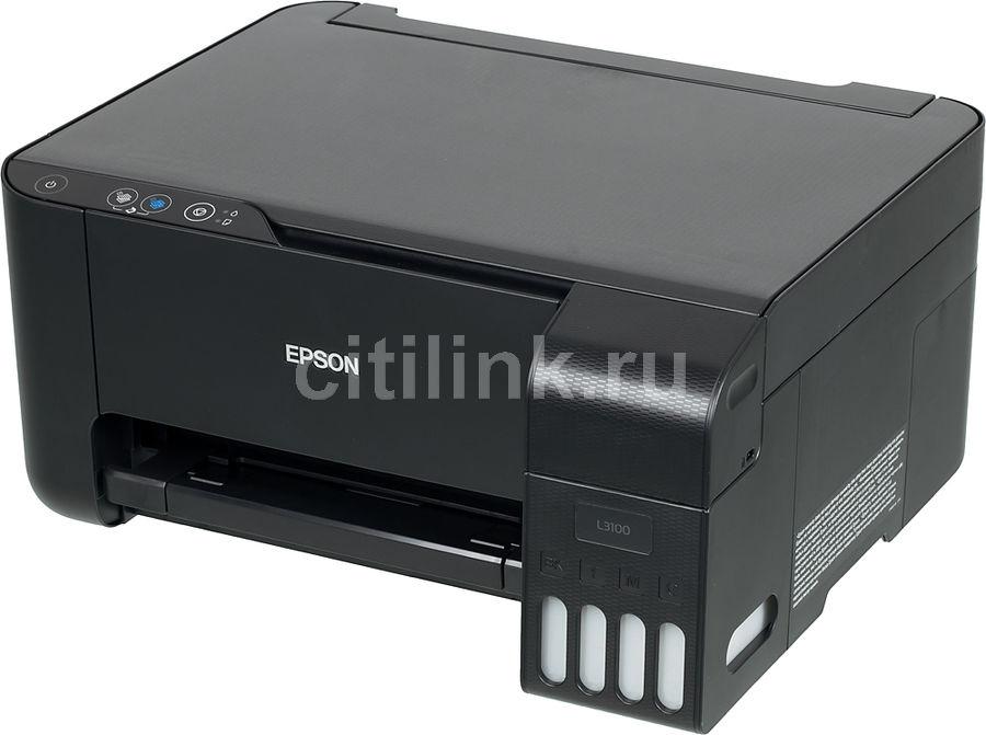 МФУ струйный EPSON L3100, A4, цветной, струйный, черный [c11cg88401]