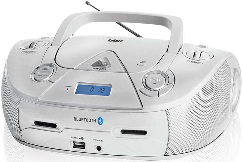 Аудиомагнитола BBK BX318BT,  серебристый