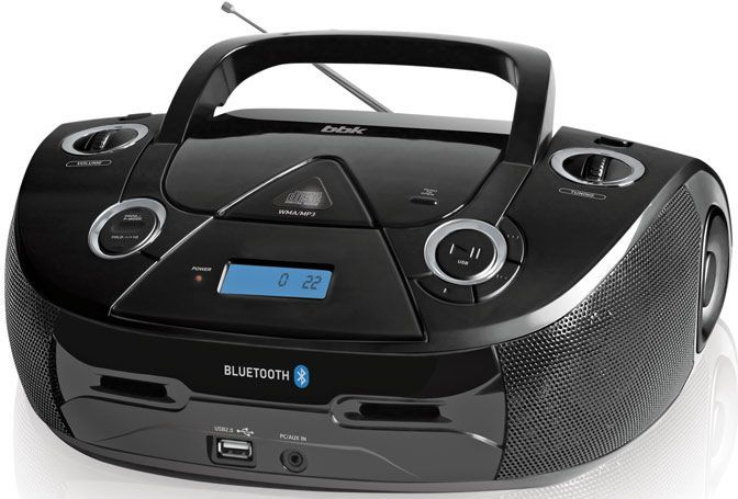 Аудиомагнитола BBK BX318BT,  черный