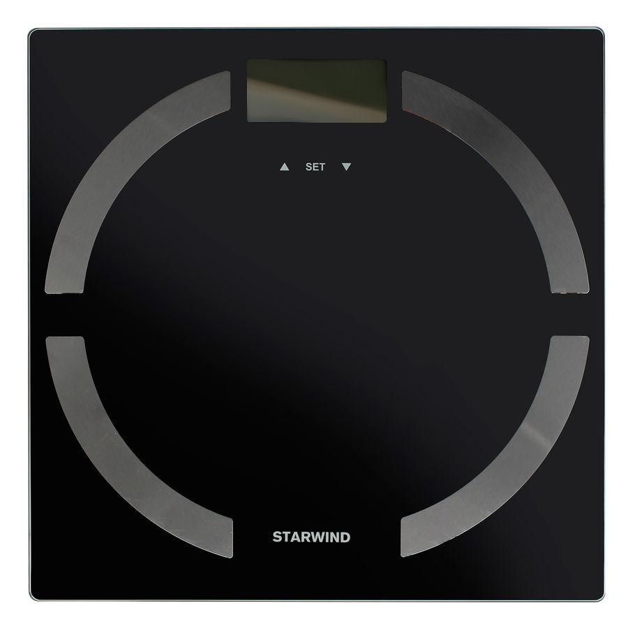 Напольные весы STARWIND SSP6051, до 180кг, цвет: черный