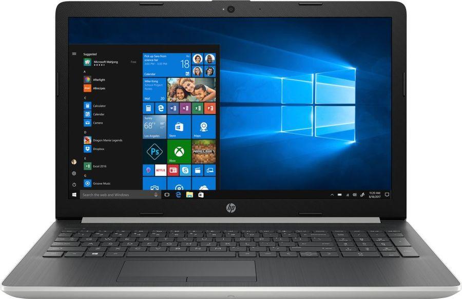 """Ноутбук HP 15-da1025ur, 15.6"""",  IPS, Intel  Core i7  8565U 1.8ГГц, 12Гб, 256Гб SSD,  nVidia GeForce  Mx130 - 4096 Мб, Windows 10, 5SV07EA,  серебристый"""