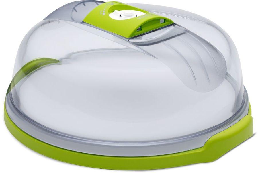 Контейнер Zepter VacSy VS-015-28 для тортов кругл. 4.7л. стекло зеленый