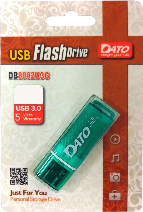 Флешка USB DATO DB8002U3 16Гб, USB3.0, зеленый [db8002u3g-16g]