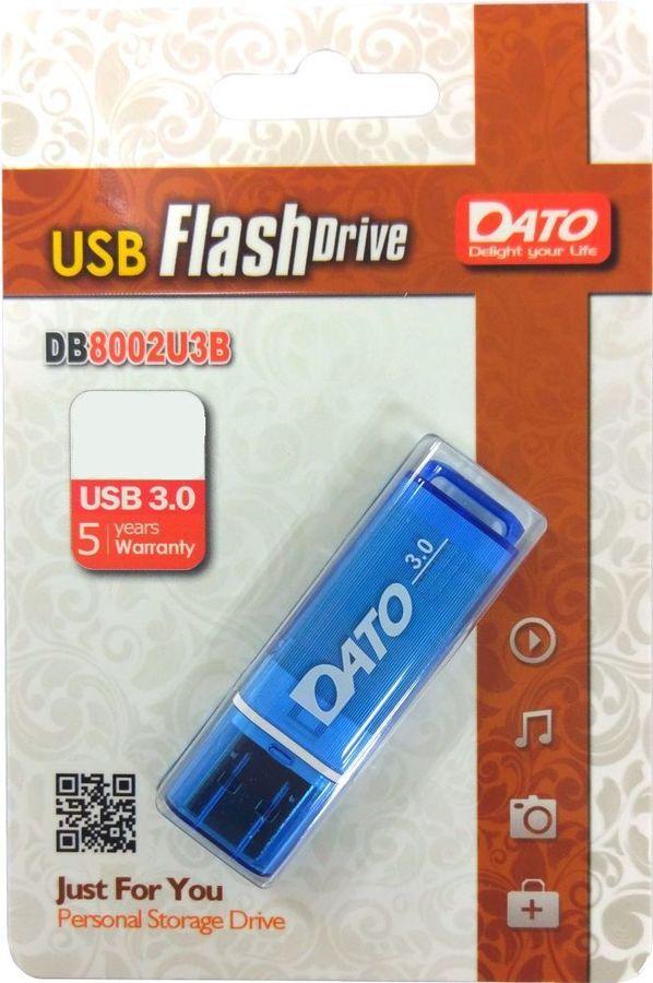 Флешка USB DATO DB8002U3 16Гб, USB3.0, синий [db8002u3b-16g]