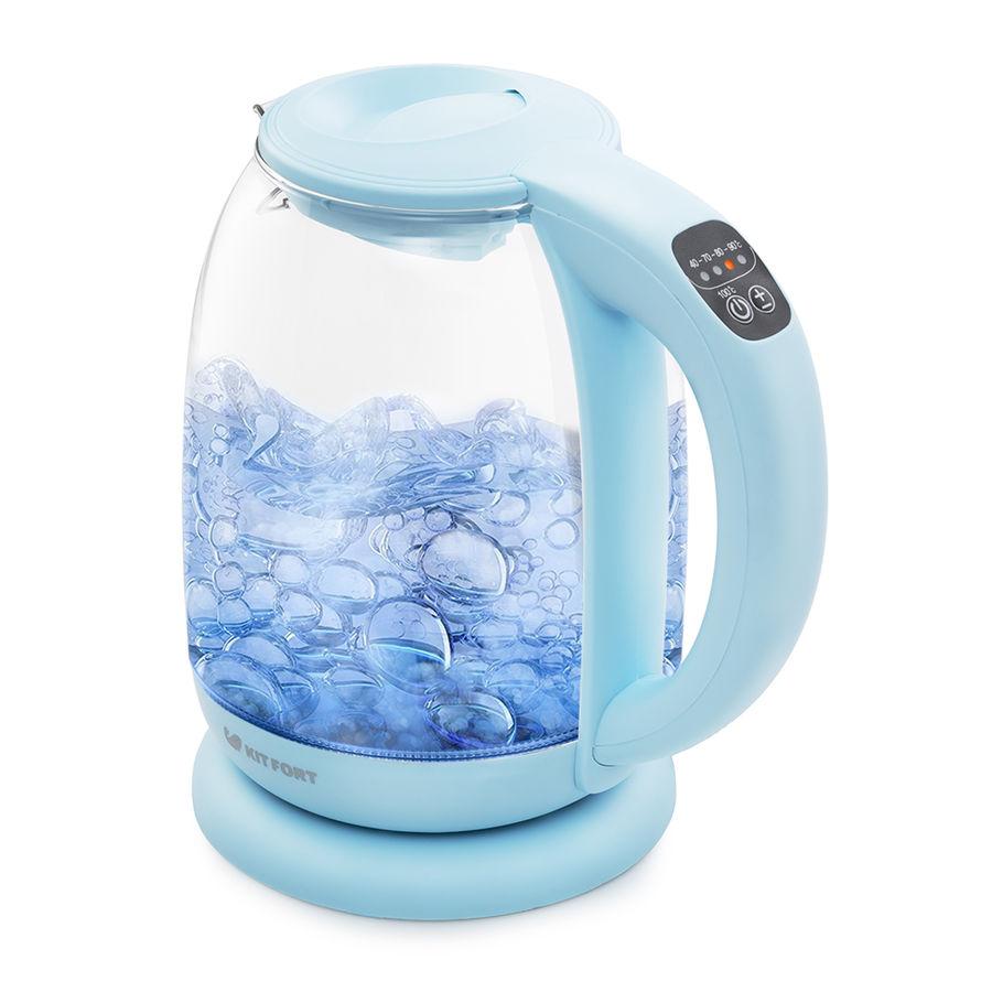 Чайник электрический KITFORT КТ-640-1, 2200Вт, голубой