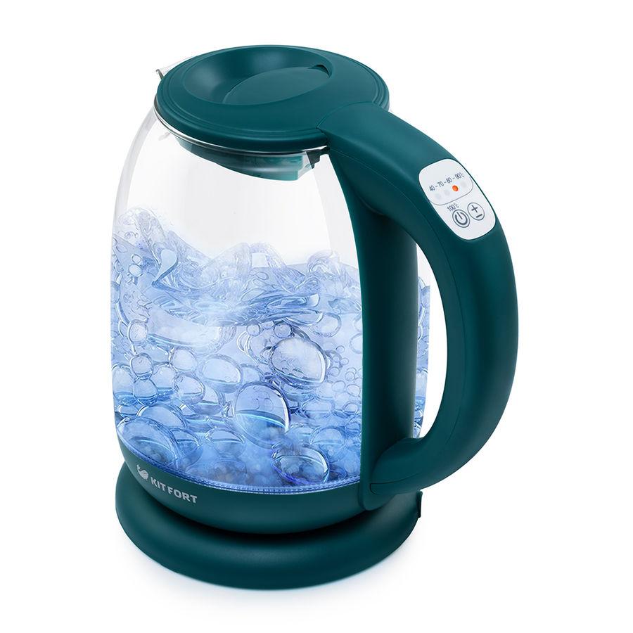Чайник электрический KITFORT КТ-640-4, 2200Вт, изумрудный