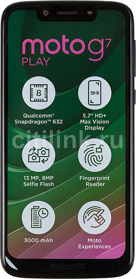 Смартфон MOTOROLA G7 Play 32Gb,  XT1952-1,  темно-синий