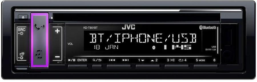 Автомагнитола JVC KD-T801BT,  USB
