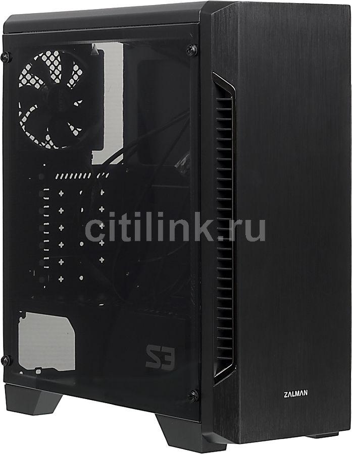Корпус ATX ZALMAN S3, Midi-Tower, без БП,  черный