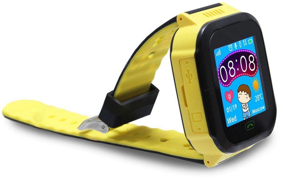 """Смарт-часы GINZZU GZ-502,  1.44"""",  желтый / желтый [00-00001274]"""