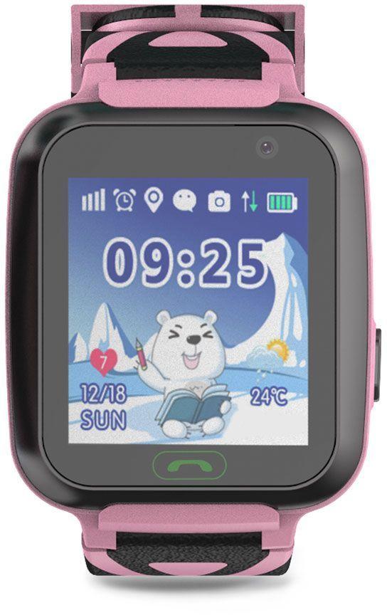 "Смарт-часы GINZZU GZ-509,  1.44"",  розовый / розовый [00-00001276]"