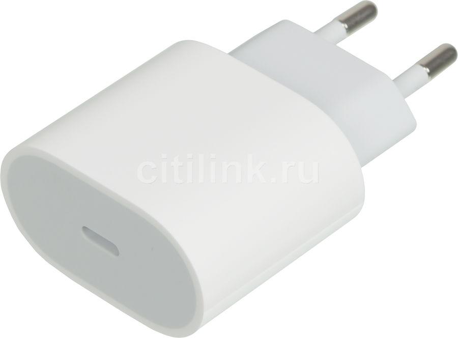 Сетевое зарядное устройство APPLE MU7V2ZM/A,  USB type-C,  белый