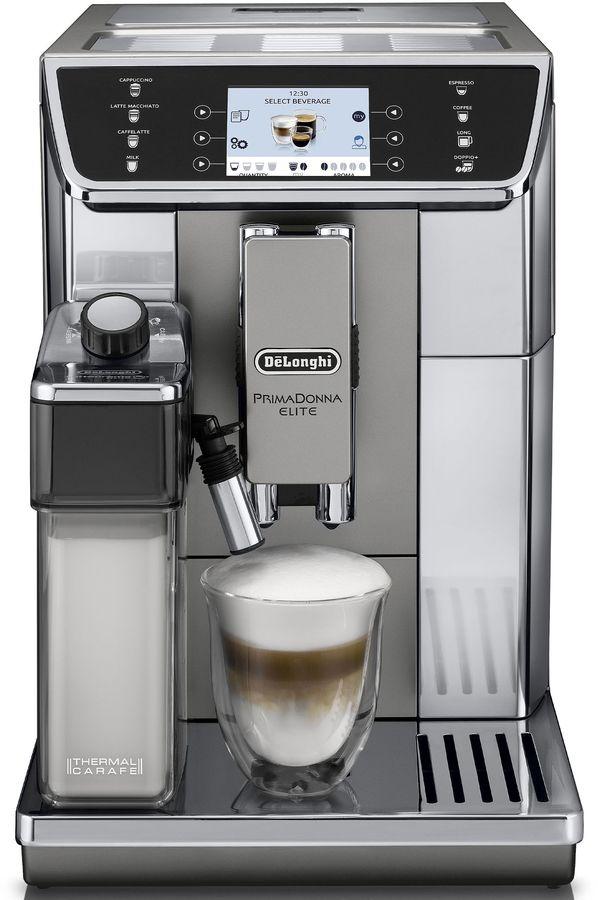 Кофемашина DELONGHI PrimaDonna Elite Experience ECAM650.85 MS,  серебристый/черный