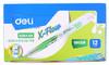 Текстовыделитель Deli X-flow EU35450 скошенный пиш. наконечник 1-5мм колпачок с клипом зеленый вид 2