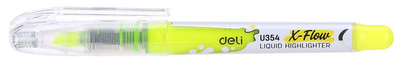 Текстовыделитель Deli X-flow EU35470 скошенный пиш. наконечник 1-5мм колпачок с клипом желтый