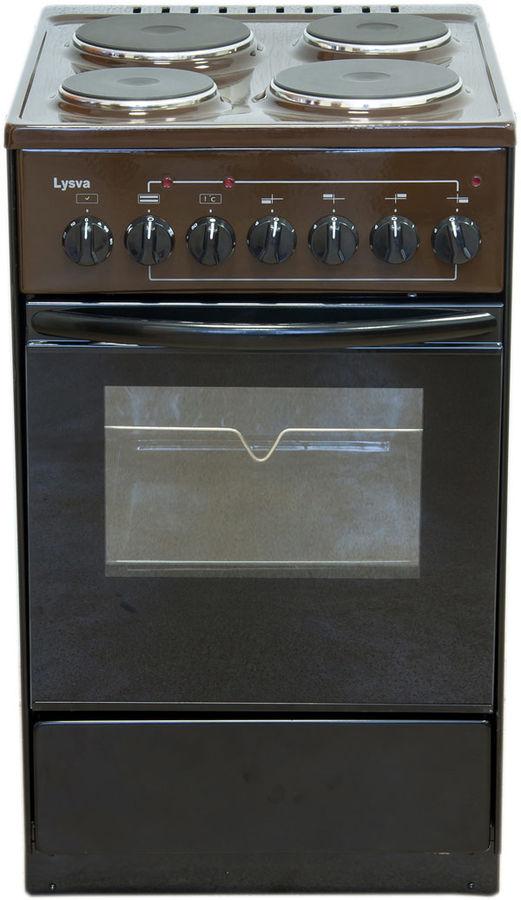 Электрическая плита ЛЫСЬВА ЭП 43р3,  эмаль,  коричневый [эп 43р3 brown]