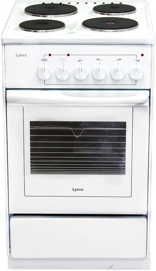Электрическая плита ЛЫСЬВА ЭП 4/1э03 М2С,  эмаль,  без крышки,  белый