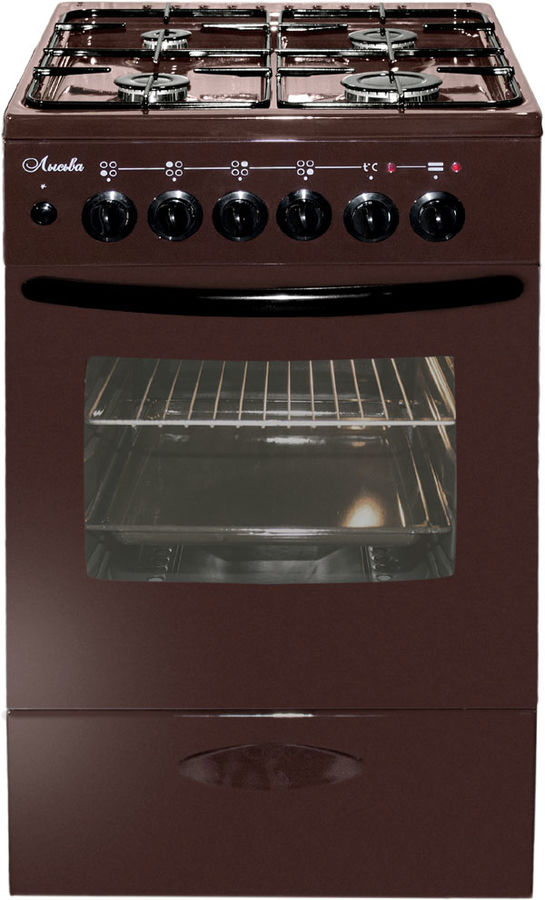 Газовая плита ЛЫСЬВА ЭГ 404 МС-2у,  электрическая духовка,  коричневый