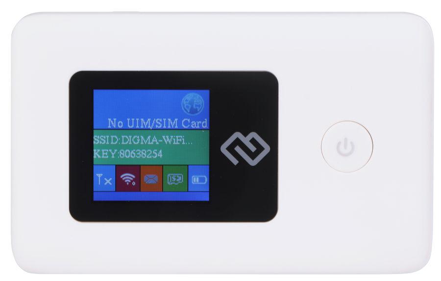 Модем DIGMA Mobile Wifi 3G/4G, внешний, белый [dmw1969]