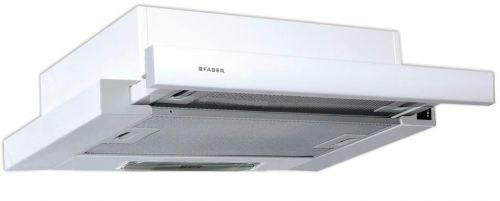 Вытяжка встраиваемая Faber Flox WH A60 белый управление: кулисные переключатели (1 мотор)