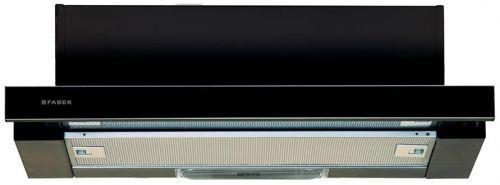Вытяжка встраиваемая Faber Flox BK A60 черный управление: кулисные переключатели (1 мотор)