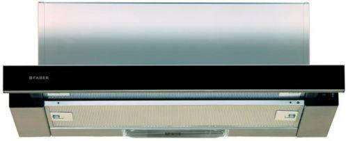 Вытяжка встраиваемая Faber Flox GLASS BK A60 черный управление: кулисные переключатели (1 мотор)