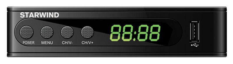 Ресивер DVB-T2 STARWIND CT-200,  черный