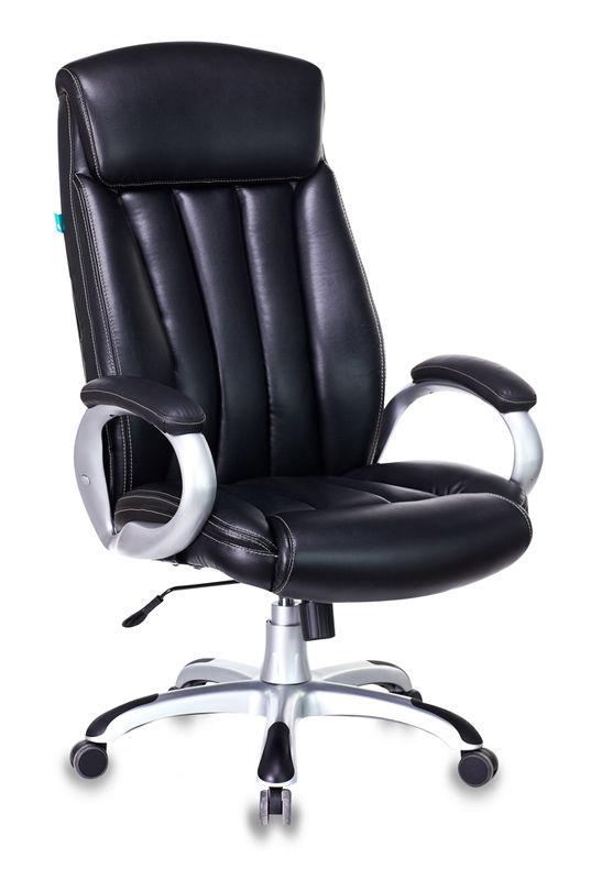 Кресло руководителя БЮРОКРАТ T-9922, на колесиках, искусственная кожа, черный [t-9922/black-pu]