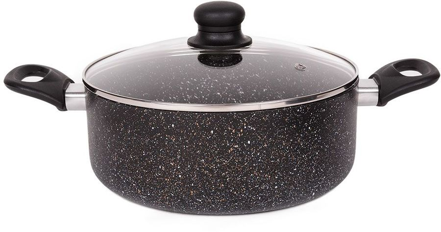 Кастрюля ENDEVER Stone Titan-24С, 4л, с крышкой,  черный [80644]