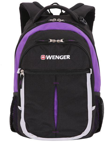 Рюкзак Wenger 13852915 черный/фиолетовый/серебристый 32x45x15см 22л. 0.78кг.