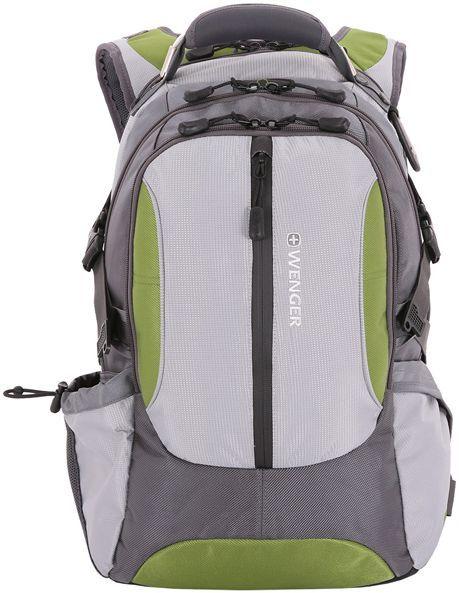 Рюкзак Wenger Large Volume Daypack серый/зеленый 15914415 36x50x17см 30л. 1.6кг.