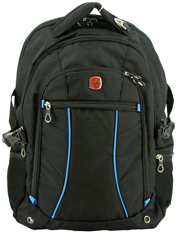 Рюкзак Wenger 3118203408 черный/синий 36x47x19см 32л. 1.02кг.