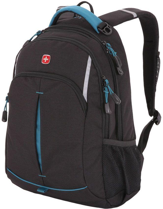 Рюкзак Wenger 3165206408-2 черный/бирюзовый 32x46x15см 22л. 0.7кг.