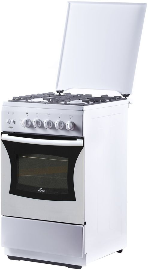 Газовая плита FLAMA FG 24227 W,  газовая духовка,  белый