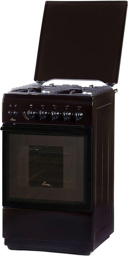 Газовая плита FLAMA FG 24227 B,  газовая духовка,  коричневый