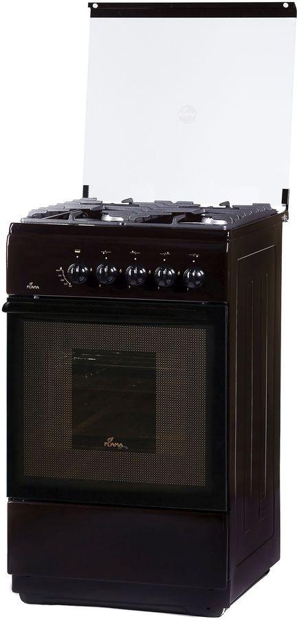 Газовая плита FLAMA FG 24022 B,  газовая духовка,  коричневый