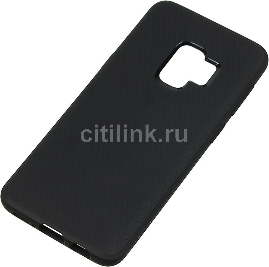 Чехол (клип-кейс)  Spigen Liquid Air, для Samsung Galaxy S9, черный (матовый) [592cs22833]