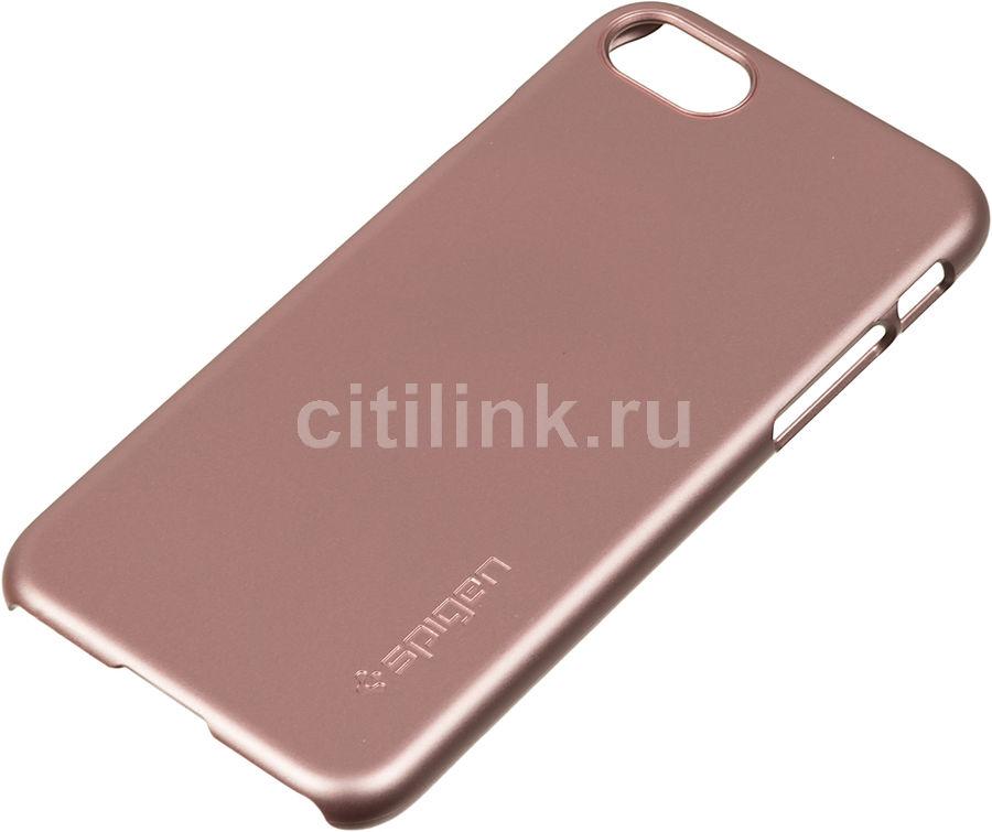 Чехол (клип-кейс)  Spigen Thin Fit, для Apple iPhone 7/8, розовое золото [042cs20429]