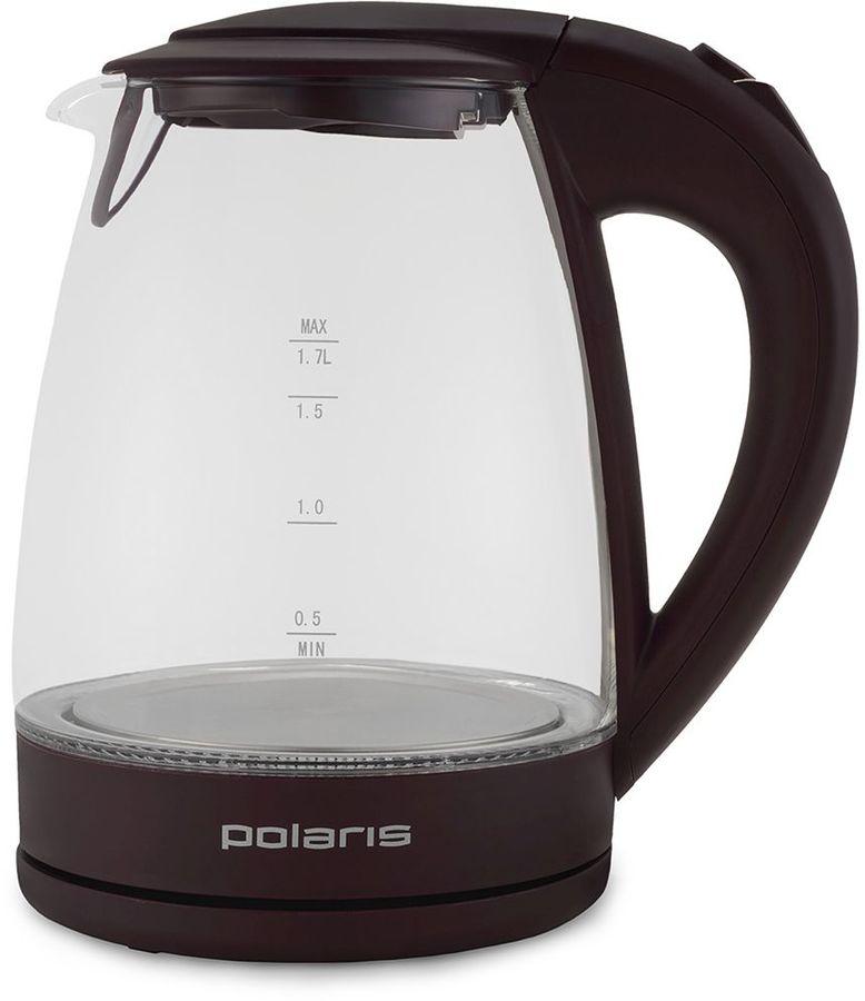 Чайник электрический POLARIS PWK 1774CGL, 2200Вт, темно-фиолетовый