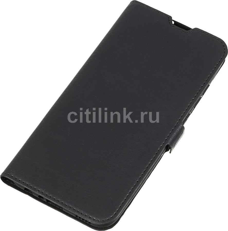 Чехол (флип-кейс) DF hwFlip-52, для Huawei Honor 10 Lite, черный