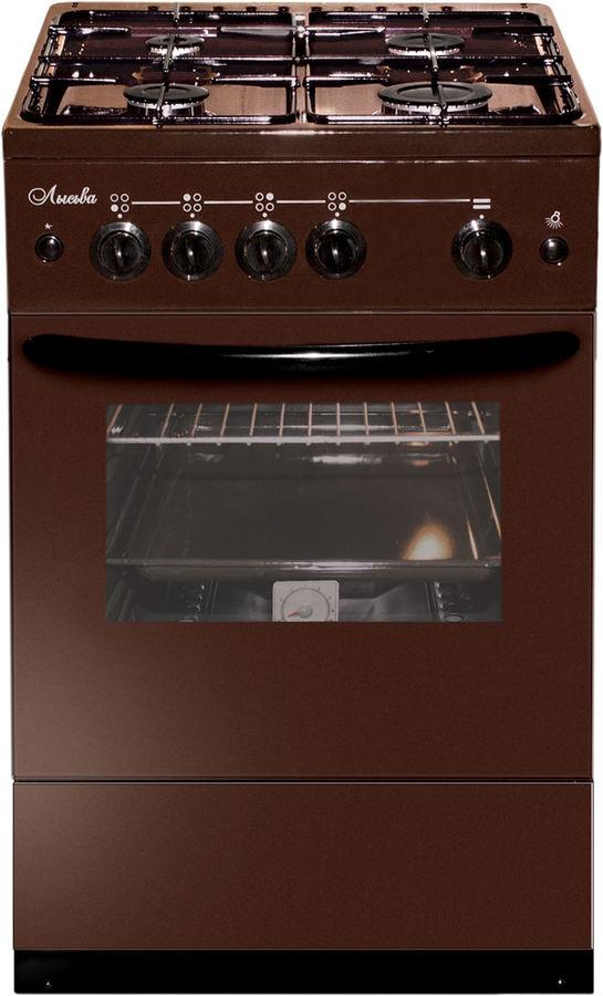 Газовая плита ЛЫСЬВА ГП 400 М2С-2у,  газовая духовка,  коричневый