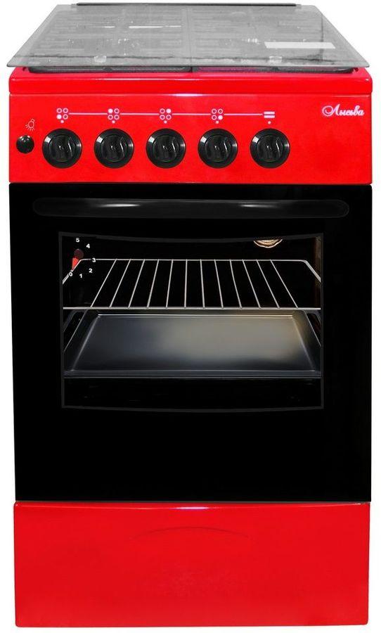 Газовая плита ЛЫСЬВА ГП 400 МС-2у,  газовая духовка,  вишневый