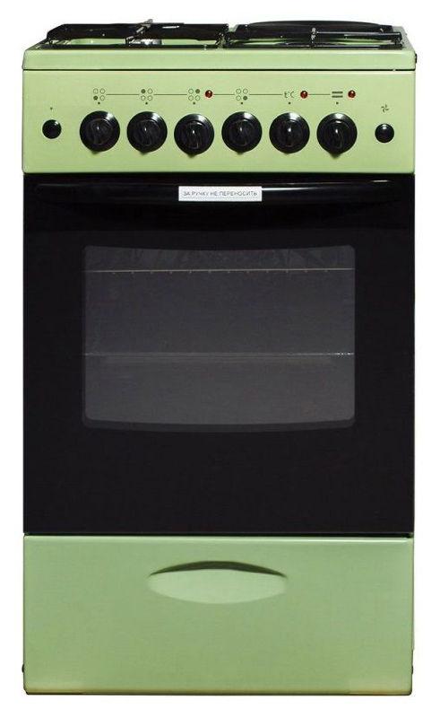 Газовая плита ЛЫСЬВА ЭГ 1/3г01 МС-2у,  электрическая духовка,  зеленый