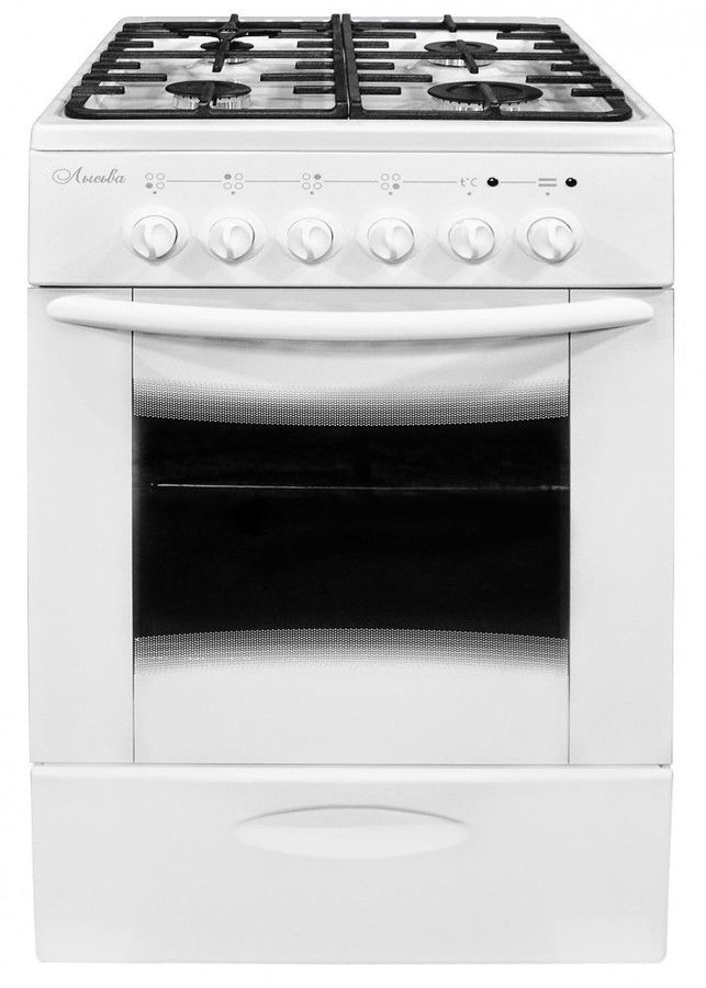 Газовая плита ЛЫСЬВА ЭГ 401 МС-2у,  электрическая духовка,  белый