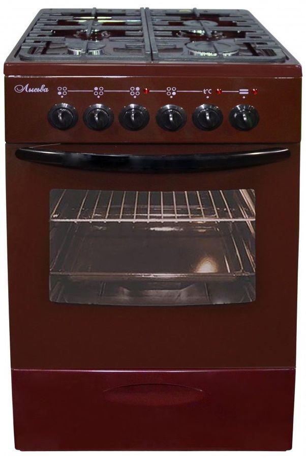 Газовая плита ЛЫСЬВА ЭГ 401 МС-2у,  электрическая духовка,  коричневый