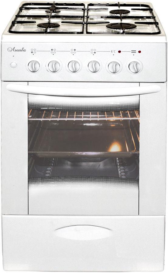 Газовая плита ЛЫСЬВА ЭГ 404 М2С-2у,  электрическая духовка,  белый