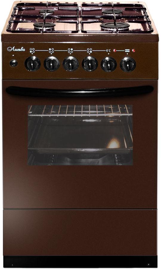 Газовая плита ЛЫСЬВА ЭГ 404 М2С-2у,  электрическая духовка,  коричневый